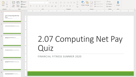 Thumbnail for entry Financial Fitness Quiz 2.07 Instructional Video