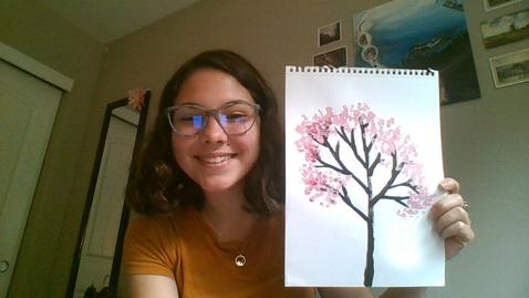 Thumbnail for entry Art Lesson #1-Cherry Blossom Trees