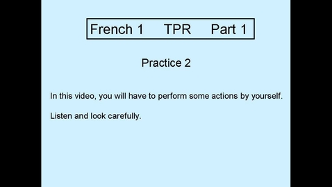 Thumbnail for entry TPR Part 1 Practice 2