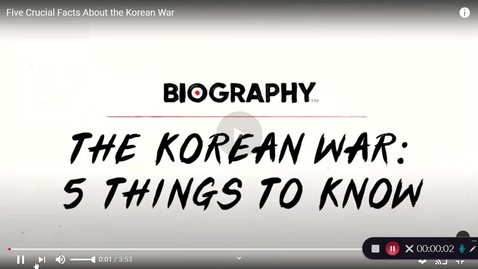Thumbnail for entry the Korean War