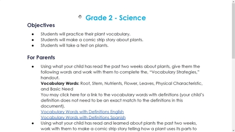 Thumbnail for entry 2nd Grade Week 6 Science Overview