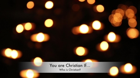 Thumbnail for entry To be Christian