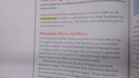 Thumbnail for entry 6th Grade Social Studies - Ancient India - Early Civilizations - Thursday May 14