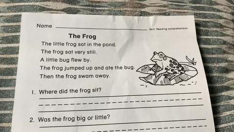 Thumbnail for entry 1st Grade READING - Monday, May 11