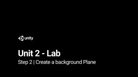 Thumbnail for entry Lab 2 - Step 2 - Create a background plane