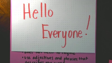 Thumbnail for entry Poetry - Acrostic