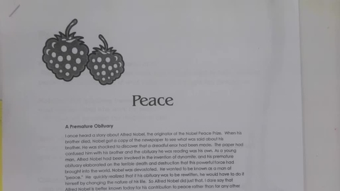 Thumbnail for entry 6th Grade Bible - The Fruits of the Spirit - Peace - Wednesday May 6