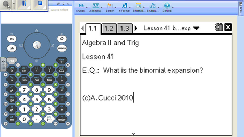 Thumbnail for entry Lesson 41 Binomial Expansion