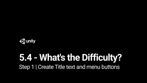 Thumbnail for entry 2.Create Title text and menu buttons