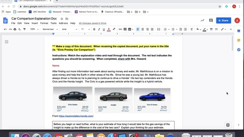 Thumbnail for entry Car Comparison Problem