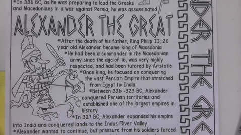 Thumbnail for entry 6th Grade Social Studies - Alexander the Great Part 2 - Wednesday May 6