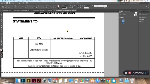 Thumbnail for entry Billing Businesses - InDesign Statements
