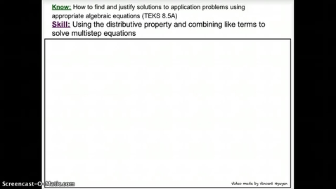 Thumbnail for entry Solving MultiStep Equations