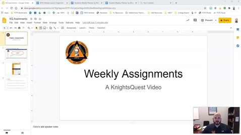 Thumbnail for entry Message from MHS administrators: Weekly assignments