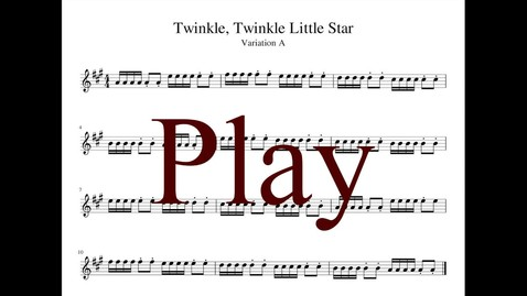 Thumbnail for entry Violin-Twinkle, Twinkle Little Star Variations - Suzuki violin Book 1 (80% Tempo)
