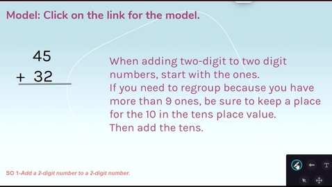 Thumbnail for entry Double Digit Addition - Standard Algorithm