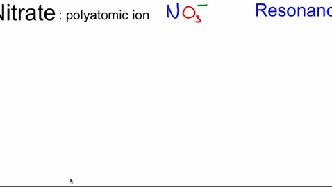Thumbnail for entry Polyatomic Ions 2: nitrate