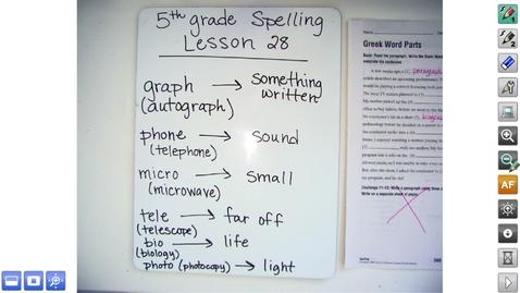 Thumbnail for entry 5.28 Spelling Video
