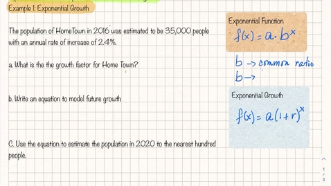 Thumbnail for entry A1 Topic 6 Lesson 6-3 Example 1A