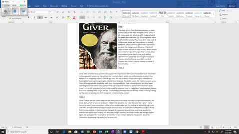 Thumbnail for entry The Giver Chap. 1 - 3 Summary