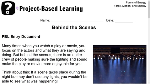 Thumbnail for entry Stemscopes- Project Based Learning