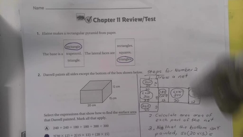 Thumbnail for entry 6th Grade chapter 11 Chapter review Part 1