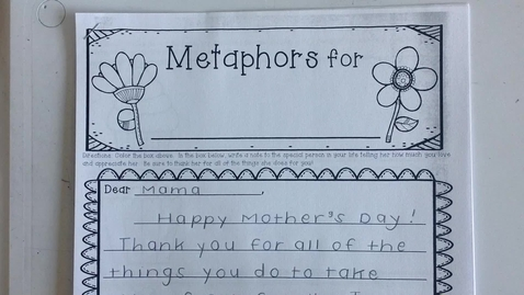 Thumbnail for entry Mother's Day Letter Example
