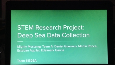 Thumbnail for entry Deep Sea Data Collection STEM Research Project
