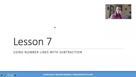 Thumbnail for entry subtracting on a numberline.mp4