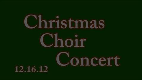 Thumbnail for entry Christmas Choir Concert