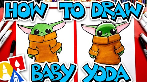 Thumbnail for entry How To Draw Baby Yoda From The Mandalorian