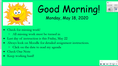 Thumbnail for entry Miss Galvin's Monday Message- May 18th