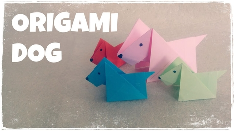 Thumbnail for entry Origami for Kids - Origami Dog Tutorial (Very Easy)