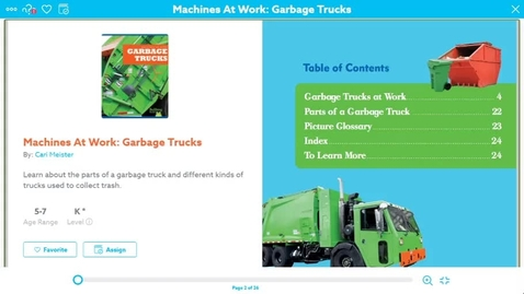 Thumbnail for entry Garbage Truck read aloud