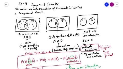 Thumbnail for entry alg2 10-4 Notes Venn Diagrams Tree Diagrams