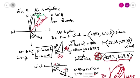 Thumbnail for entry trig 6-4 F vector navigation