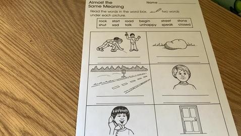 Thumbnail for entry 1st Grade ENGLISH - Thursday, April 30