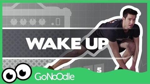 Thumbnail for entry Wake Up - Fresh Start Fitness | GoNoodle