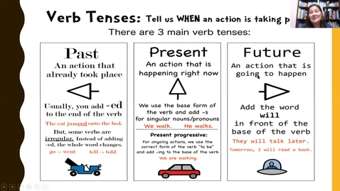 Thumbnail for entry Writing Lesson on Verb Tense Part 1_5/12/20
