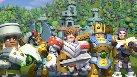 Thumbnail for entry Kingdom Builders | Episode 14: Build-n-Bash Games | Cartoon Webisode for Kids