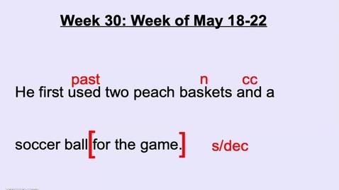 Thumbnail for entry Thursday DGP Wk 30
