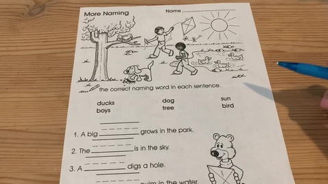 Thumbnail for entry 1st Grade GRAMMAR - Tuesday, May 26
