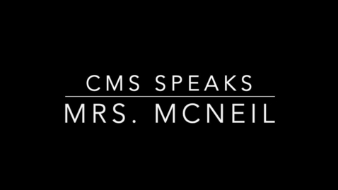 Thumbnail for entry CMS Speaks: McNeil