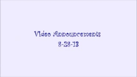 Thumbnail for entry sms video announcements 8.28.13