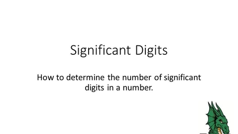 Thumbnail for entry Counting Significant Digits