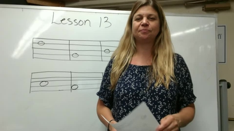 Thumbnail for entry 1st Music Lesson 13