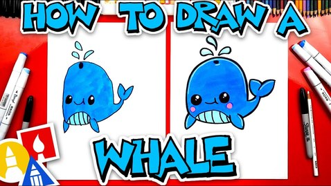 Thumbnail for entry How To Draw A Funny Whale #stayhome and draw #withme