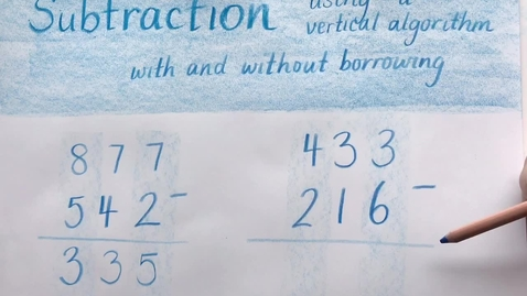 Thumbnail for entry Subtraction using a vertical algorithm