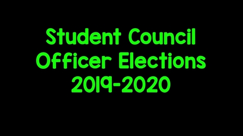 Thumbnail for entry Garfield Elementary Student Council Election Video 2019