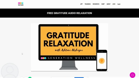 Thumbnail for entry Gratitude Audio Relaxation - Generation Wellness
